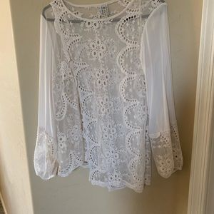XVCI cream see through tunic